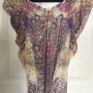New beautiful flower lace blouse